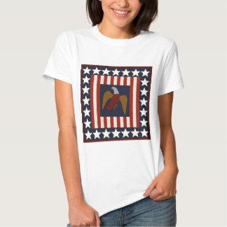Civil War Era Digital Art Quilt Square Tshirts