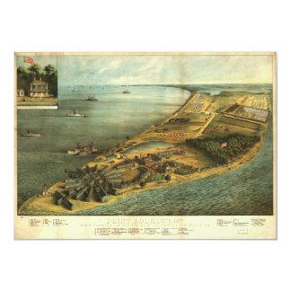 Civil War Hammond General Hospital and Prison 1864 13 Cm X 18 Cm Invitation Card