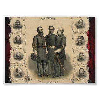 Civil War Heroes Photo Print