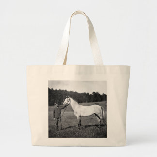 Civil War Horse, 1860s Jumbo Tote Bag