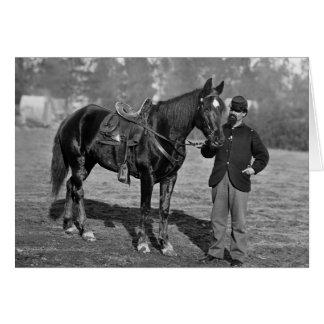Civil War Horse, 1864 Card