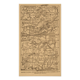 Civil War Kentucky and Middle & Eastern Tennessee Poster