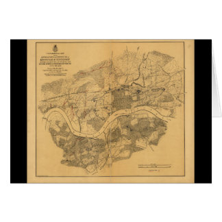Civil War Knoxville Tennessee Map (1864) Greeting Card