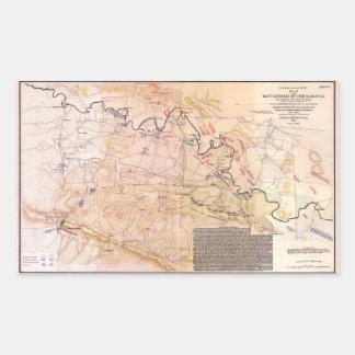 Civil War Map Battlefield of Chickamauga (1863) Rectangular Sticker