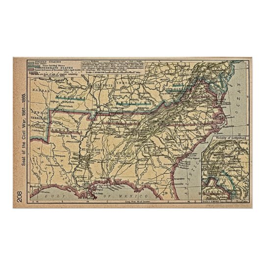 Civil War MAP Poster