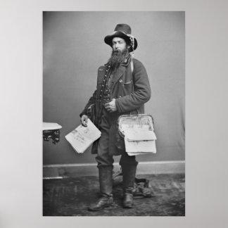 Civil War Newspaperman, 1860s Poster