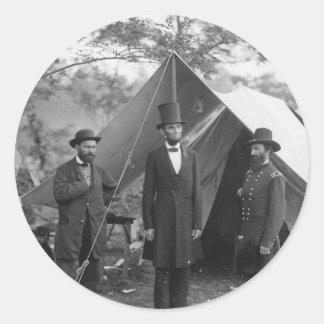 Civil War Photo Circa 1862 Classic Round Sticker