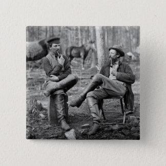 Civil War Pipes, 1864 15 Cm Square Badge