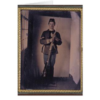 Civil War Portrait 001 Greeting Card