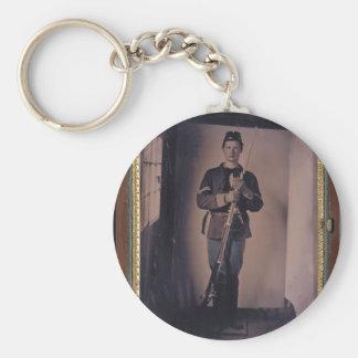 Civil War Portrait 001 Key Chain