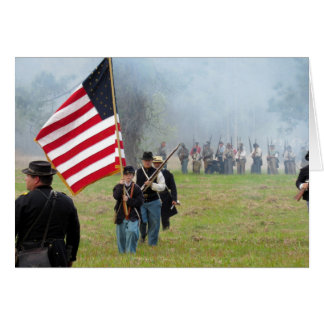 Civil War Reenactment - Flag Boy - Greeting Card