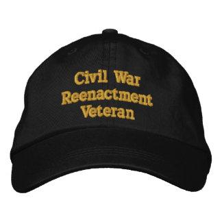 Civil War Reenactment Veteran hat - in black Embroidered Hat