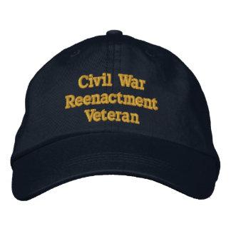 Civil War Reenactment Veteran hat - North Embroidered Hat