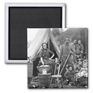 Civil War Road Trip, 1861 Square Magnet