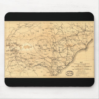 Civil War Sherman's March Map Atlanta to Goldsboro Mouse Pad