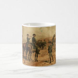 Civil War Siege of Atlanta by Thure de Thulstrup Basic White Mug
