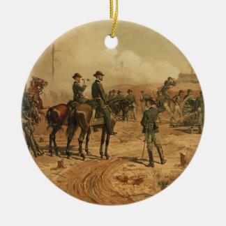 Civil War Siege of Atlanta by Thure de Thulstrup Round Ceramic Decoration