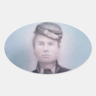 Civil War Soldier Oval Sticker