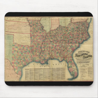 Civil War Southern States Map by J. Lloyd (1862) Mouse Mat