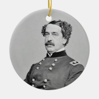 Civil War Union General Abner Doubleday Double-Sided Ceramic Round Christmas Ornament
