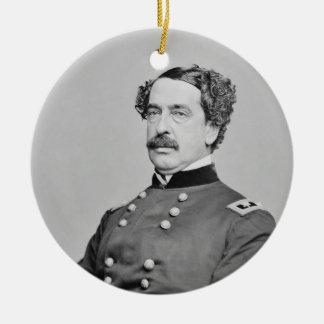Civil War Union General Abner Doubleday Round Ceramic Decoration