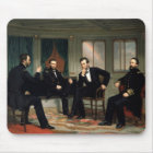 Civil War Union Leaders Painting Mouse Mat