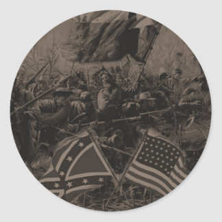 civil was classic round sticker