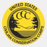 Civilian Conservation Corps CCC commemorative Round Sticker
