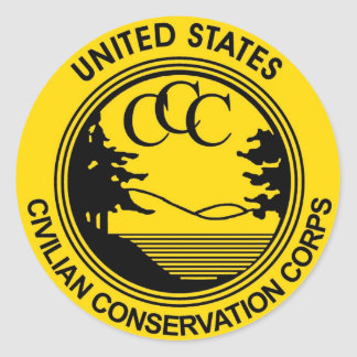 Civilian Conservation Corps CCC commemorative Classic Round Sticker
