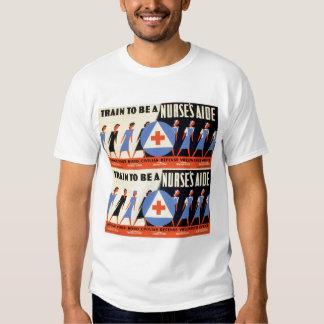 Civilian Defense - Train to be a Nurse's Aid - WPA Tshirt