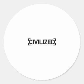 Civilized text sticker