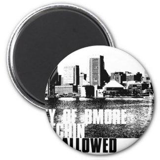 Ciy of Bmore NBA 6 Cm Round Magnet