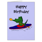 CJ- Funny Gator Kayaking Card