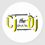 CJtheDJ yellow Stickers