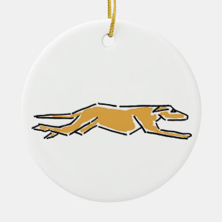CK- Awesome Greyhound Ornament