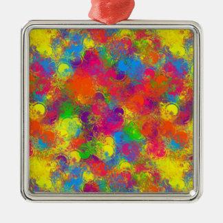 CKC Paint Can Florals-Premium Ornament Sq.
