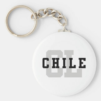 CL Chile Basic Round Button Key Ring