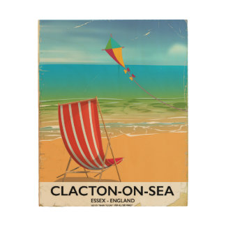 Clacton-on-sea, Essex Vintage travel poster