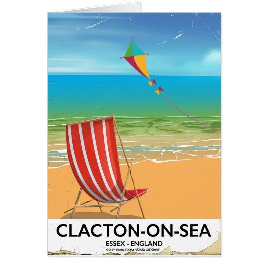 Clacton-on-sea, Essex Vintage travel poster Card