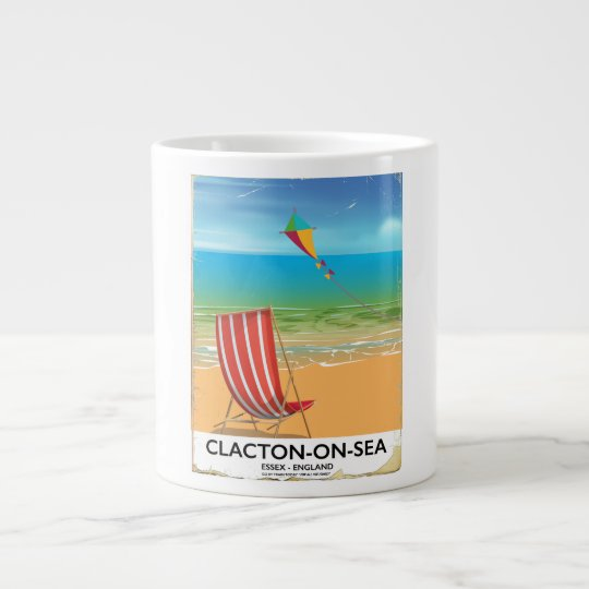 Clacton-on-sea, Essex Vintage travel poster Large Coffee Mug