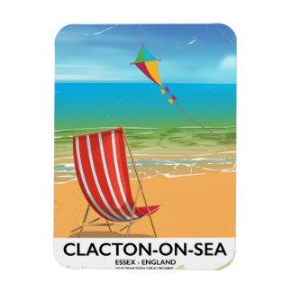 Clacton-on-sea, Essex Vintage travel poster Rectangular Photo Magnet