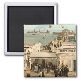 Clacton-on-Sea Pier I, Essex, England Square Magnet