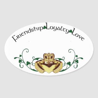 Claddagh / Claddaugh Oval Sticker