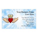 Claddagh Graphic with Red Heart Business Card Template
