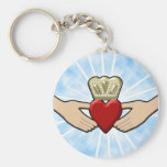 Claddagh Graphic with Red Heart Key Chain