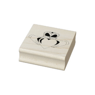 CLADDAGH HEART RUBBER STAMP