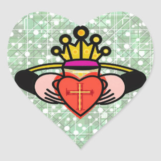 Claddagh. Heart Sticker