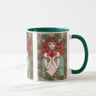 claddagh mermaid coffee mug