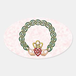 Claddagh Oval Sticker