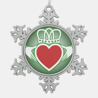 Claddagh Pewter Snowflake Decoration